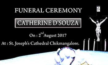 Catherine Dsouza Funeral Ceremony