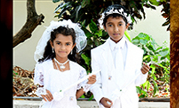 Macwin & Mishel Holy Communion